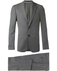 Traje de lana en gris oscuro de Z Zegna