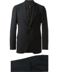 Traje de lana negro de Caruso