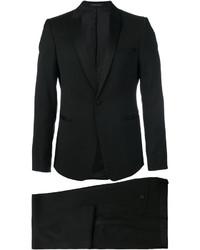 Traje de lana negro de Emporio Armani