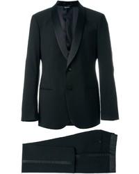 Traje de lana negro de Giorgio Armani