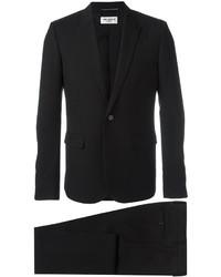 Traje de lana negro de Saint Laurent