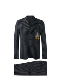 Traje de rayas verticales negro de Dolce & Gabbana