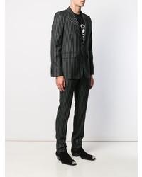 Traje de rayas verticales negro de Givenchy