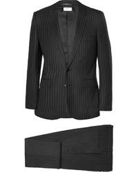 Traje de rayas verticales negro de Saint Laurent