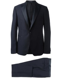 Traje de tres piezas de lana azul marino de Tagliatore