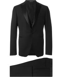 Traje de tres piezas de lana negro de Tagliatore