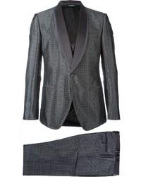 Traje de tres piezas en gris oscuro de Dolce & Gabbana