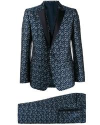 Traje estampado azul marino de Dolce & Gabbana
