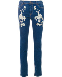 Vaqueros bordados azules de Gucci