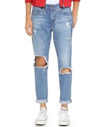 Vaqueros Boyfriend Desgastados Azules de AG Jeans