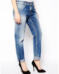 Vaqueros boyfriend desgastados azules de Pepe Jeans