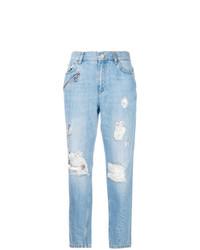 Vaqueros boyfriend desgastados celestes de Versace Jeans