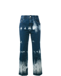 Vaqueros con lavado ácido azul marino de Stella McCartney