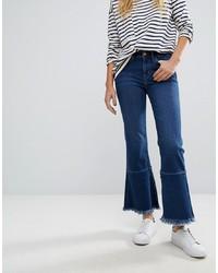 Vaqueros de campana azul marino de MiH Jeans