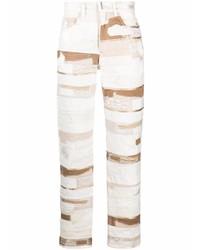Vaqueros de patchwork blancos de Givenchy