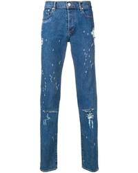 Vaqueros desgastados azules de Givenchy