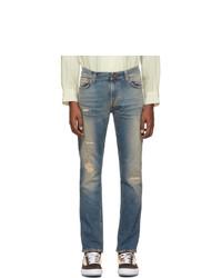 Vaqueros desgastados azules de Nudie Jeans