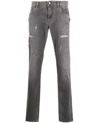 Vaqueros desgastados grises de Dolce & Gabbana