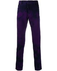 Vaqueros efecto teñido anudado en violeta de DSQUARED2