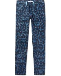Vaqueros estampados azul marino de Givenchy