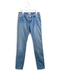 Vaqueros estampados azules de Armani Junior
