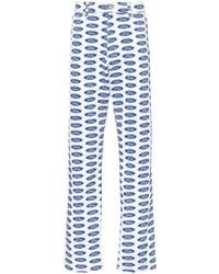 Vaqueros estampados azules de Versace