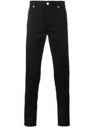 Vaqueros pitillo bordados negros de Givenchy