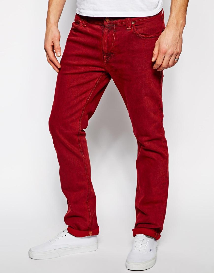 0a7fc54a935d7 ... Vaqueros pitillo de pana rojos de Nudie Jeans