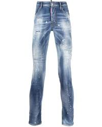 Vaqueros pitillo desgastados azules de DSQUARED2
