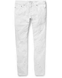Vaqueros Pitillo Desgastados Blancos de Saint Laurent