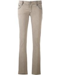 Vaqueros pitillo marrón claro de Armani Jeans