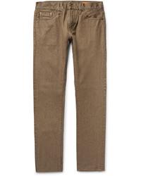 Vaqueros pitillo marrón claro de Jean Shop