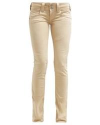 Vaqueros pitillo marrón claro de Pepe Jeans