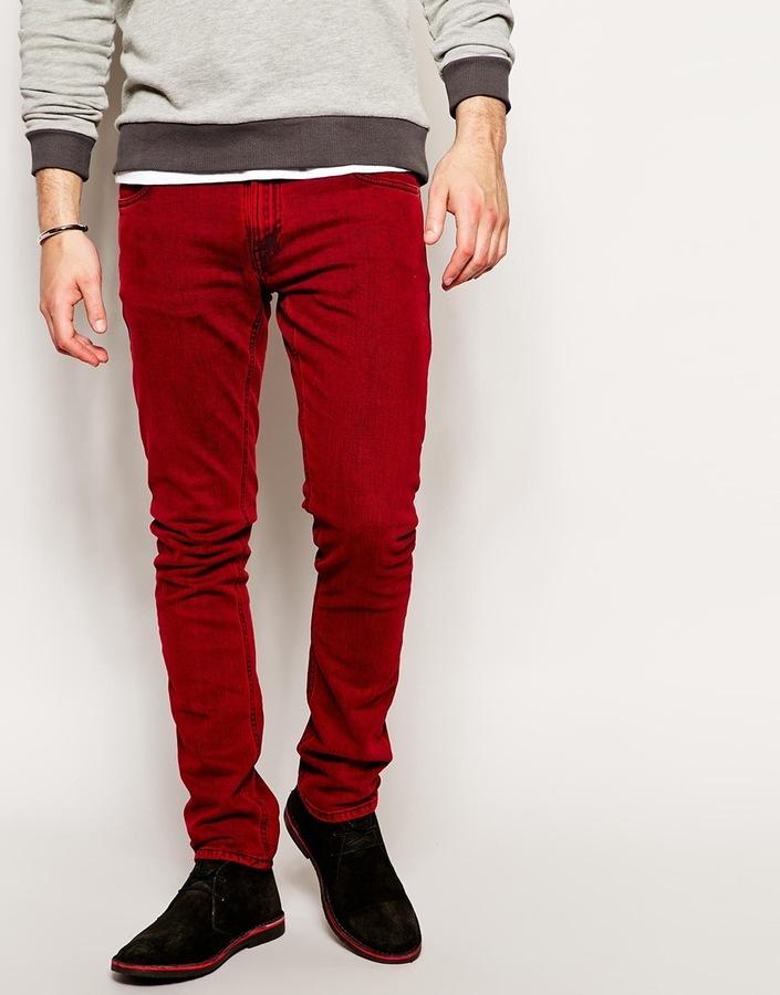Vaqueros Rojos De Nudie Jeans 170 Asos Lookastic Espana