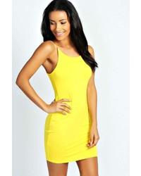 Vestido ajustado amarillo