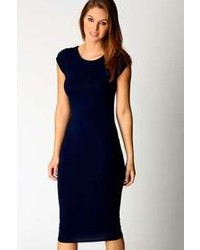 Vestido ajustado azul marino