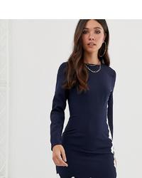 Vestido ajustado azul marino de Missguided