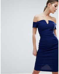 Vestido ajustado azul marino de Vesper