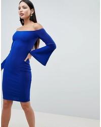 Vestido ajustado azul de AX Paris