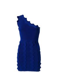 Vestido ajustado azul de David Koma