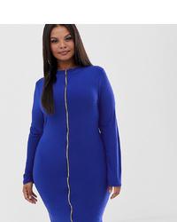 Vestido ajustado azul de Fashionkilla Plus