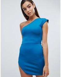 Vestido ajustado azul de Missguided
