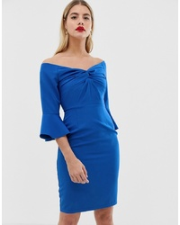 Vestido ajustado azul de Paper Dolls