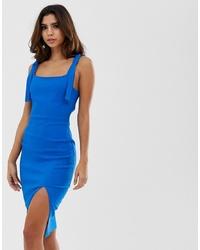 Vestido ajustado azul de Vesper