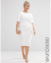 Vestido Ajustado Blanco de Asos