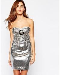 55ffba750694 Comprar un vestido ajustado plateado: elegir vestidos ajustados ...
