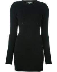 Vestido ajustado de punto negro