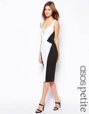 código promocional realmente cómodo precio de fábrica Vestido ajustado en blanco y negro de Asos
