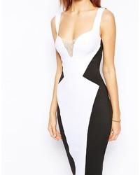 Precio reducido diseño innovador online Vestido ajustado en blanco y negro de Asos, €60 | Asos ...