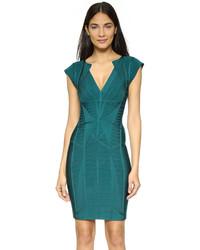 Vestido ajustado en verde azulado